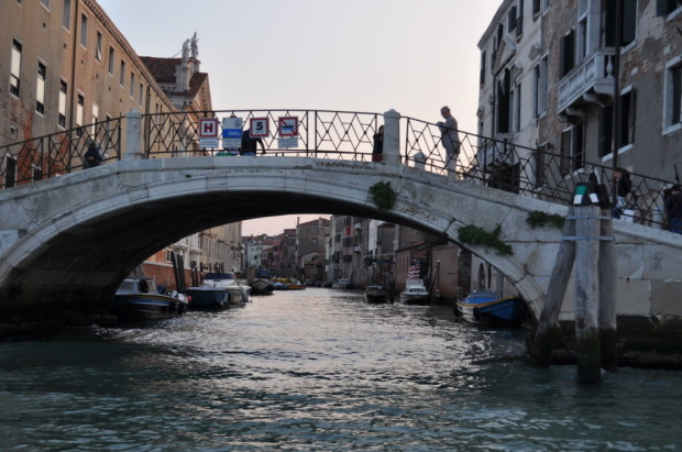 Entering the canals of Venice