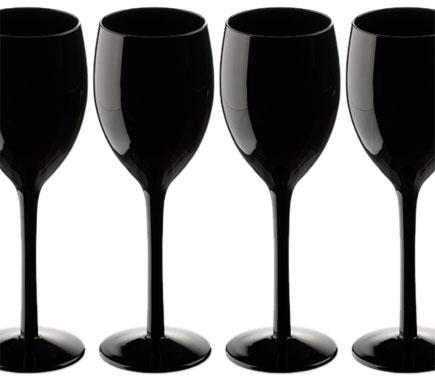 Black Wine Glasses for Sensory Deprivation Tasting