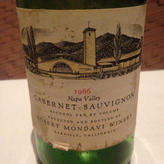The Robert Mondavi 1966 Cabernet Unfiltered